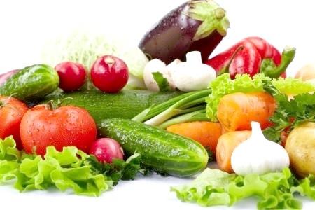 Помідори, огірки, цибуля, редис, капуста