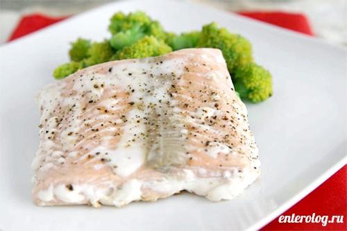 риба приготована на пару